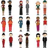 Gente de diversas naciones ilustración del vector