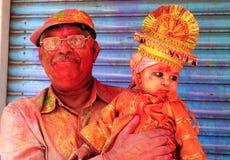 Gente de Holi Foto de archivo libre de regalías