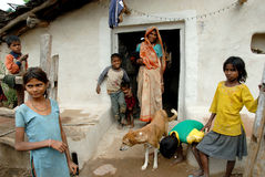 Gente de la aldea de Khajuraho Foto de archivo libre de regalías