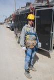 Gente de la construcción Imágenes de archivo libres de regalías
