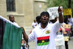 Gente de la demostración-Indigenious de Biafra Foto de archivo libre de regalías