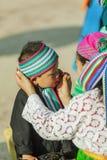 Gente de la minoría étnica de la madre y del hijo Imagen de archivo libre de regalías