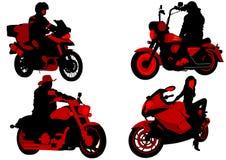 Gente de la moto Fotografía de archivo libre de regalías