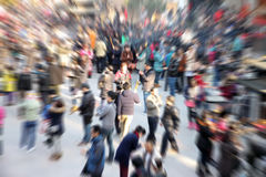 Gente de la muchedumbre Foto de archivo libre de regalías