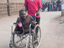 Gente de la neutralización en la silla de ruedas Fotografía de archivo