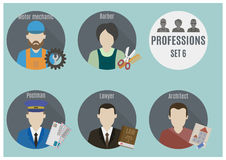 Gente de la profesión Conjunto 6 Fotografía de archivo libre de regalías