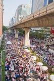 Gente de la protesta de Tailandia contra la corrupción gubernamental. Fotos de archivo libres de regalías