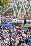 Gente de la protesta de Tailandia contra la corrupción gubernamental. Imagenes de archivo