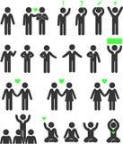 Gente de la psicología de los iconos stock de ilustración