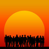 Gente de la puesta del sol Fotos de archivo