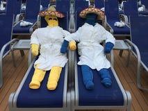 Gente de la toalla Fotos de archivo libres de regalías