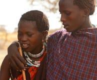 Gente de la tribu de Maasai, Tanzania Fotografía de archivo libre de regalías