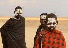 Gente de la tribu de Maasai, Tanzania Foto de archivo libre de regalías