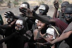 Gente de la tribu de Maasai, Tanzania Fotos de archivo libres de regalías