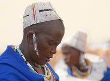 Gente de la tribu de Maasai, Tanzania Imagen de archivo libre de regalías