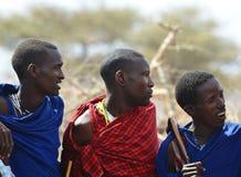 Gente de la tribu de Maasai, Tanzania Fotografía de archivo