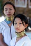 Gente de la tribu de Padaung, Myanmar Imágenes de archivo libres de regalías
