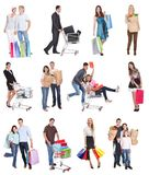 Gente de las compras foto de archivo