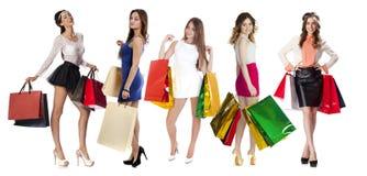 Gente de las compras del collage imagen de archivo libre de regalías