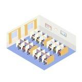 Gente de los trabajos del centro de atención telefónica Estilo isométrico libre illustration