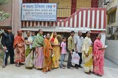 Gente de los tugurios de Kolkata Imagen de archivo libre de regalías