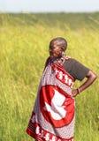 GENTE DE MAASAI EN EL PARQUE DE MARA DEL MASAI, KENIA Imágenes de archivo libres de regalías