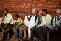 Gente de Patan, Nepal Imagen de archivo