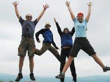 Gente de salto Foto de archivo
