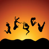 Gente de salto Libre Illustration