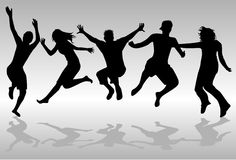 Gente de salto ilustración del vector
