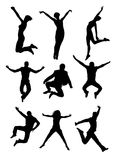 Gente de salto Fotografía de archivo