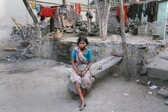 Gente del área de las minas de carbón de Jharia en la India Fotos de archivo