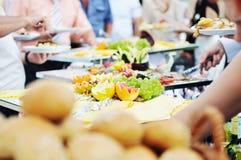 Gente del alimento de la comida fría Imagen de archivo libre de regalías