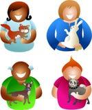 Gente del animal doméstico stock de ilustración