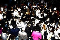 Gente del baile del disco Foto de archivo libre de regalías