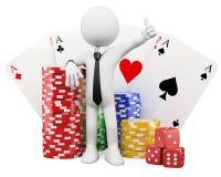 gente del blanco 3d. Casino Foto de archivo