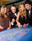 Gente del casino Fotos de archivo libres de regalías