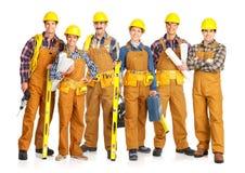 Gente del constructor imagen de archivo