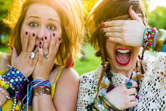 Gente del festival Imagenes de archivo