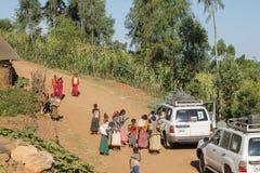Gente del konso de la tribu Foto de archivo libre de regalías