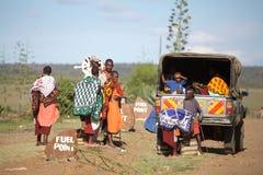 Gente del Masai Foto de archivo