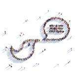 Gente del mensaje de la charla de la burbuja del pájaro Foto de archivo libre de regalías