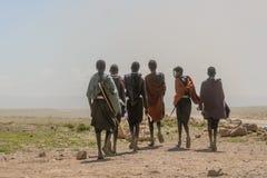 Gente del mundo - grupo de Maasai Fotos de archivo libres de regalías