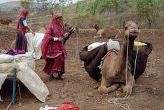 Gente del nómada en la India Foto de archivo