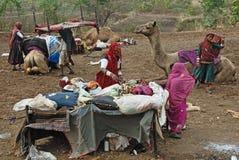 Gente del nómada en la India Fotografía de archivo