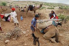 Gente del nómada en la India Imagen de archivo