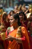Gente del Nepali que celebra el festival de Dashain Fotografía de archivo libre de regalías