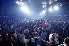 Gente del partido del club nocturno foto de archivo