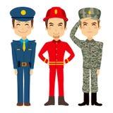Gente del trabajador del servicio público stock de ilustración
