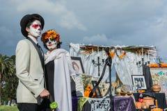 Gente desconocida en el décimo quinto día anual el festival muerto Imagen de archivo